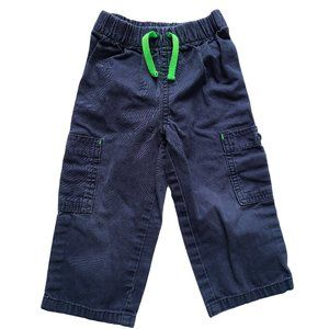 🍒3/$20🍒CARTER'S Navy Blue Pant w/ Green Tie 18m